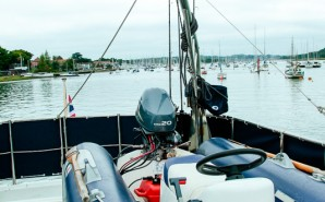Rib on the Flybridge in hamble point