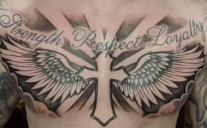 Black & Grey Chest Piece